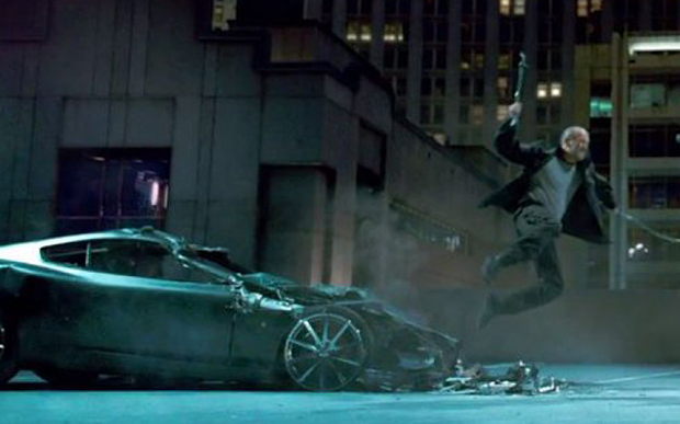aston martin DB9 crash scense fast and furious 7 jason statham