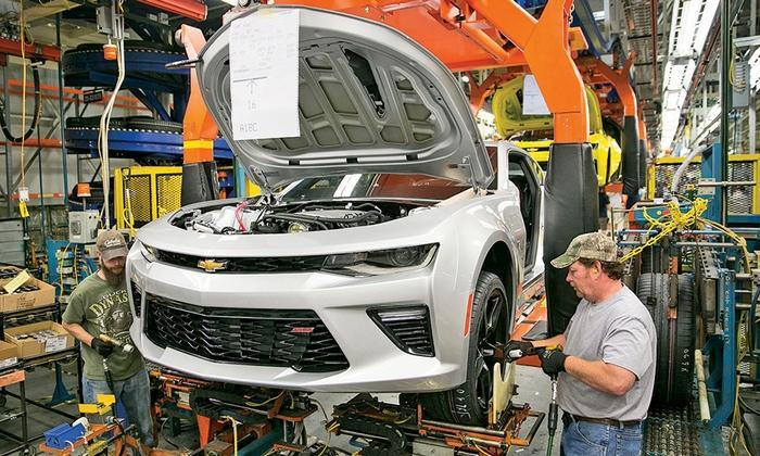 2016 Camaro production back in the USA
