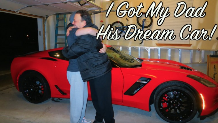 Father receives Corvette for 50th birthday!