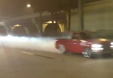 Epic Fail: Truck burnout in front of cop at TX2k16!