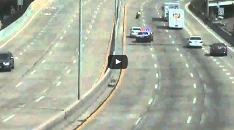 Cop Crashes After Losing Control Around a Corner