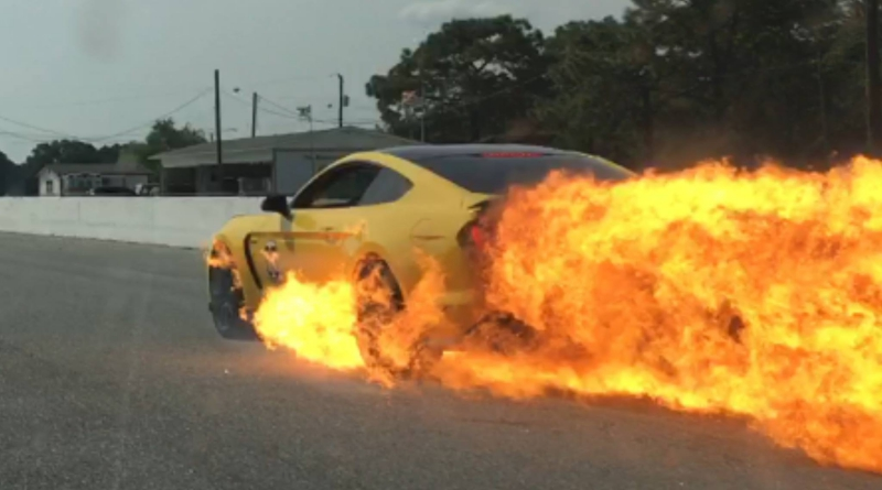 Shelby GT350 Catches Fire and Brakes Fail at Over 100mph!