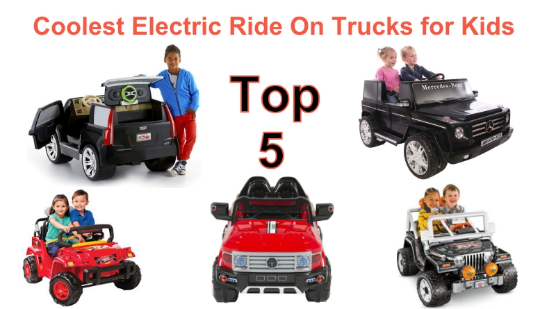 Top Five Top Rated Electric Powered Ride On Trucks For Kids