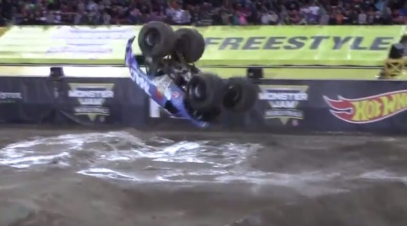 VP Racing Fuels Monster Truck Does Worlds First Front Flip!