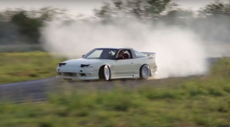 Drifting Nissan S13 in an Abandoned Development