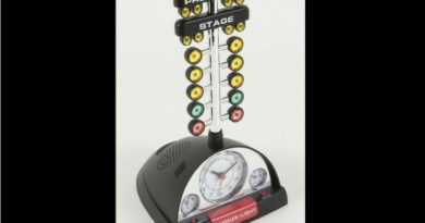 NHRA Racing Alarm Clock with Christmas Tree - A Great Car Guy Gift!