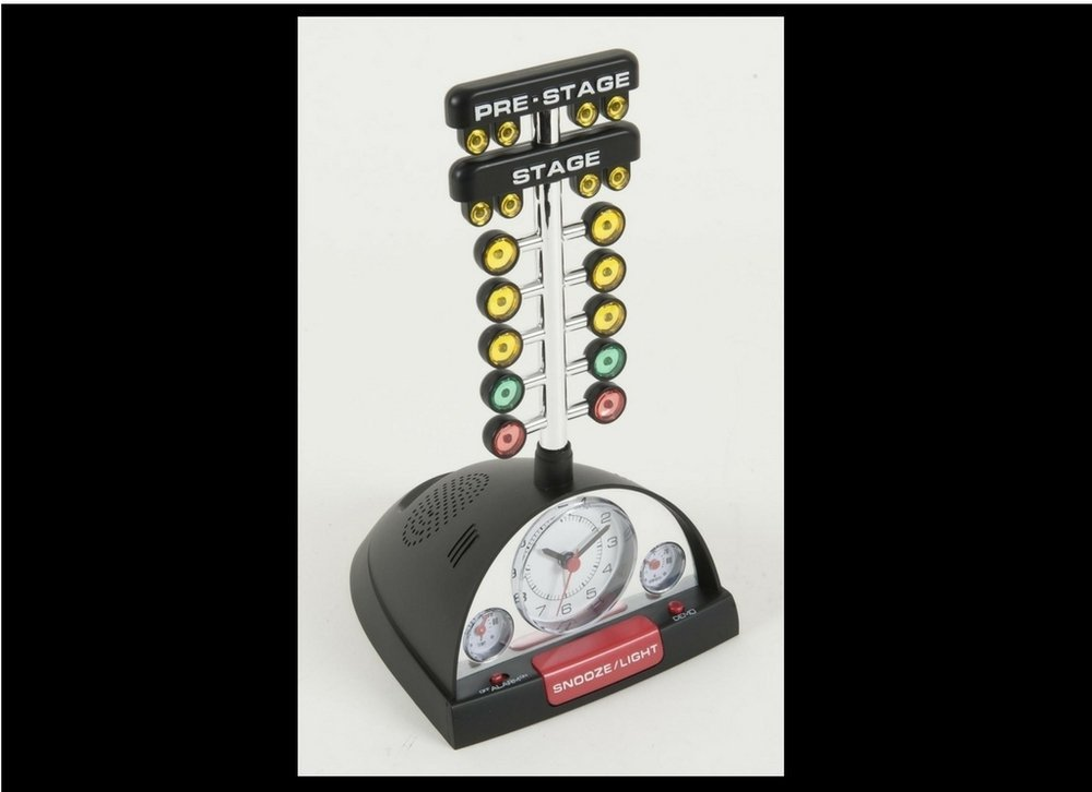 nhra racing alarm clock with christmas tree a great car guy gift epic speed. Black Bedroom Furniture Sets. Home Design Ideas