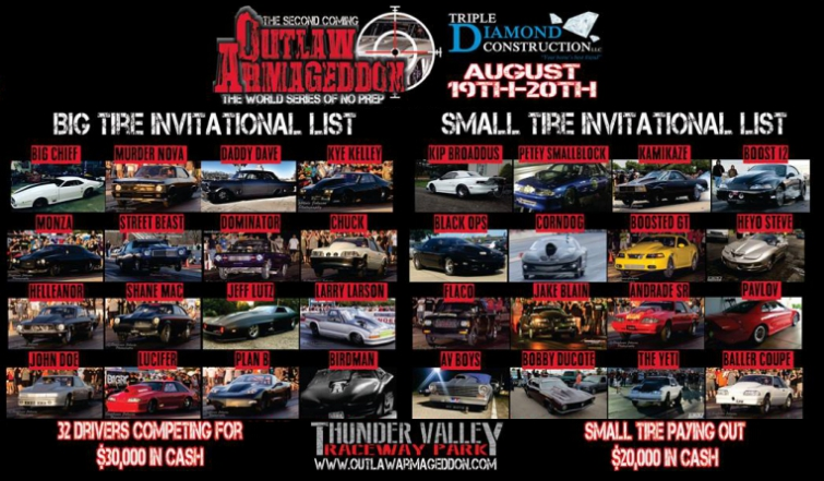 Street Outlaws Episode List >> 2016 Outlaw Armageddon Invitational No Prep Epic Speed